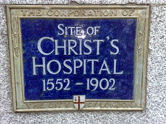 Photo of Christ's Hospital blue plaque