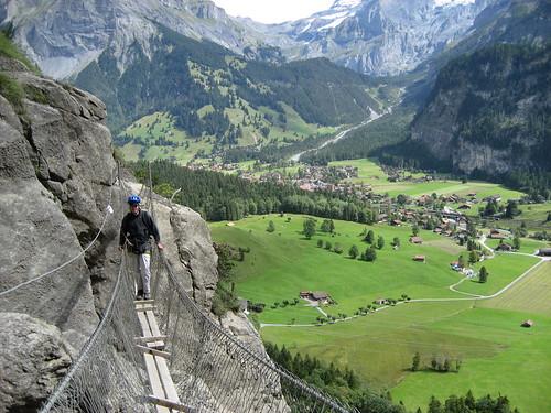 Klettersteig Bern : Ich auf dem nepalsteg des klettersteig kandersteg allmenalp