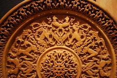 Museum of Folk Art - Yerevan, Armenia - Wood Carving - Plate (jrozwado) Tags: museum asia folkart plate armenia yerevan woodcarving ethnography traditionalcraft հայաստան museumoffolkart թանգարան երեան ժողովրդականարվեստւթանգարան