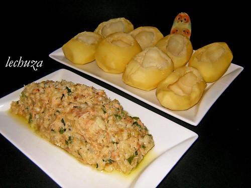 Patatas rell.bacalao-Relleno y patatas