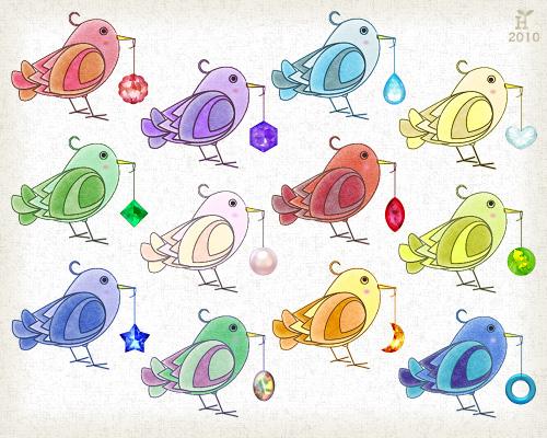 piyopiyo Birthstones (New Icon Set)