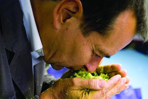 Jim Koch Smelling Hops