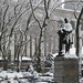 2010 Blizzard Snow Covered Statue of William Earl Dodge Bryant Park 3913