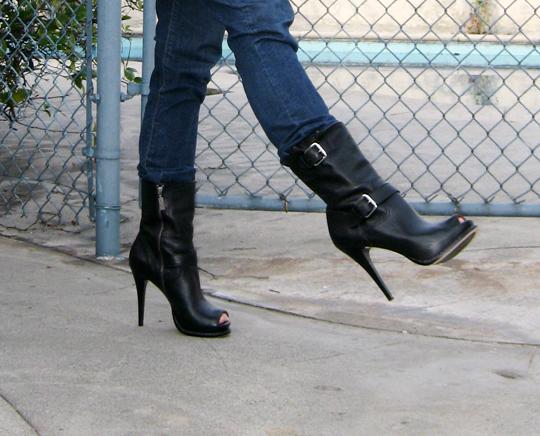 michael kors boots stiletto biker boots