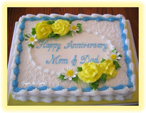 Anniversary Sheet Cake - a photo on Flickriver