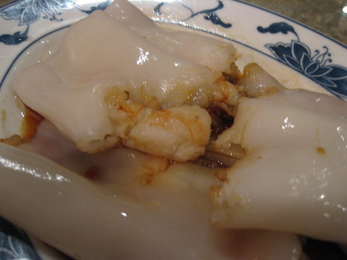 Rice noodle rolls with shrimp Aroma
