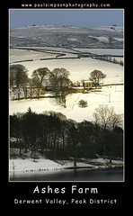 Ashes Farm (Paul Simpson Photography) Tags: uk trees winter light england sunlight snow cold derwentvalley derbyshire peakdistrict hill best hillside ladybowerreservoir thepeakdistrict february2010 derwentvalelyderbyshire