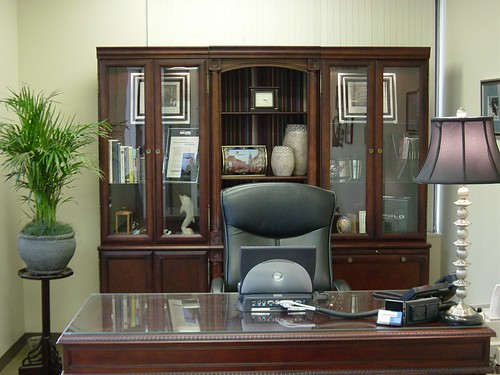 Mahogany finished executive office set