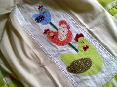 capa de galo (Dipano Ateli) Tags: de galinha pano patchwork prato cozinha jogos tecido aplicao apliqu dipano