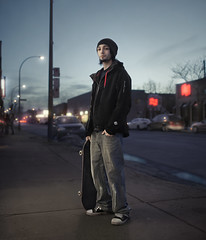 Ordinary chronicle of my banal life. (Benoit.P) Tags: street portrait canada man color art boys 35mm friend montréal benoit f14 skateboard skater homme vitrine stoner paille correction 5dmarkll