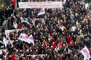 Workers in Greece have demonstrated in the millions against the austerity measures imposed by the government resulting from the world economic crisis gripping the capitalist system globally. Another general strike was held on March 11, 2010. by Pan-African News Wire File Photos