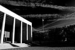Povera Patria (bryenh) Tags: bw rome roma architecture blackwhite nikon bn eur architettura geometrie contrasti palazzodeicongressi d40 e42 architetturafascista nikond40