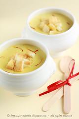 Crema di patate allo zafferano e (olio di) tartufo
