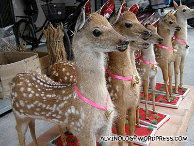 Stuffed little Bambis