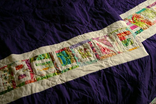 Carnival String Quilt - back