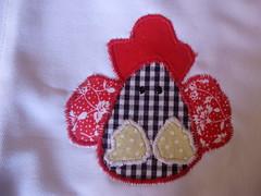 Jogo de cozinha (Bychies Criaes) Tags: galinha cozinha tecido patchcolagem