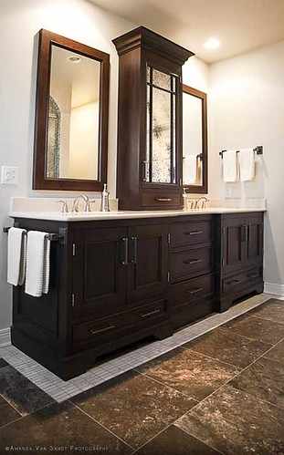 bathroom in brentwood, tennessee by cke interior design