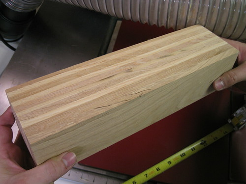 glued up pallet wood block