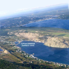 Cupids in Conception Bay, Aerial View