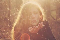 (dimplyemily) Tags: light sun hair golden hands wind blowing flecks goldenhour
