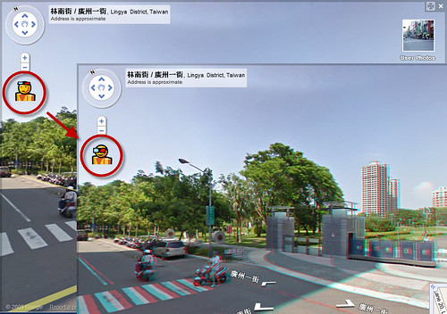 google-street-view in 3D