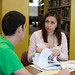 Many students utilize the academic support center's peer tutors for help on their class papers.