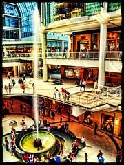 Fun @ Eaton Center (Matt Lazzarini) Tags: toronto ontario canada water fountain mall shopping angle wide wideangle olympus spray shoppingmall spout waterfountain 43 oly eatoncenter blogto 1445mm torontoeatoncenter colorphotoaward e520