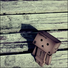 Danbo is in tha house (donchris!) Tags: shadow 6 6x6 japan toy japanese ombra sombra x ombre figure schatten spielzeug figur juguete cie jouets giocattoli figura danbo zabawka revoltech danboard