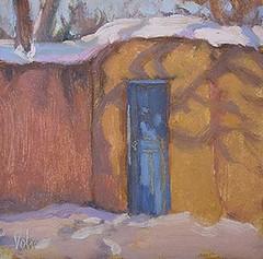 """Blue Door - 6 x 6"""""""