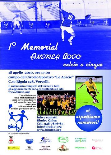 Locandina 1 Memorial Andrea Bodo