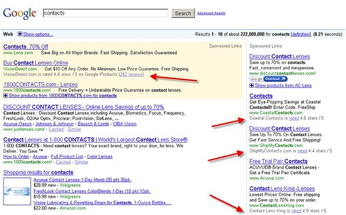 Ratings in AdWords