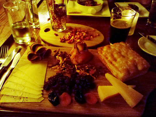ridiculously large cheese plate @ Bridge Tap House
