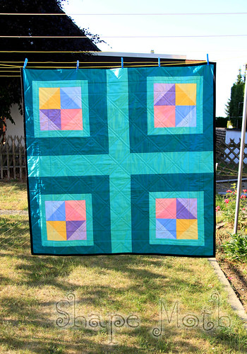 'Shattered rainbow' quilt finished (3)