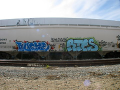 Ruche & Rtes One (El Funky Taladro) Tags: santa county orange yard train graffiti ana browns shit and bitches hoppers ruche ruches rtes freitghts