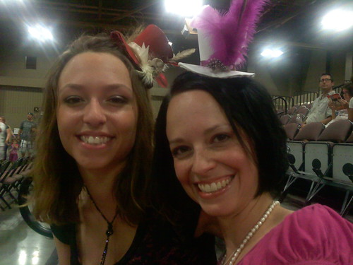 Joy and I at Roller Derby