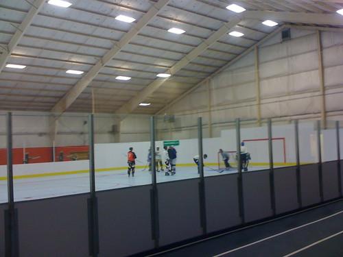 watching matt play hockey