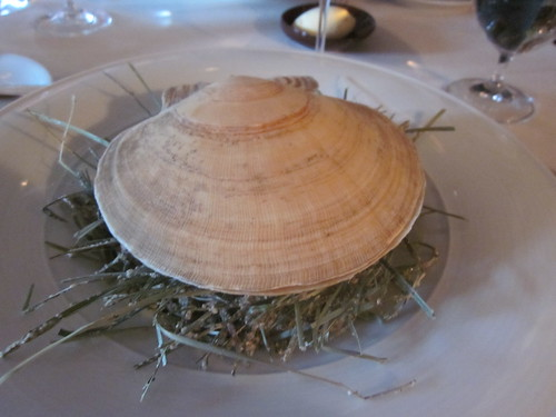 Restaurant at Meadowood - St. Helena, CA - June 2011 - Live Scallop Roasted in its Shell