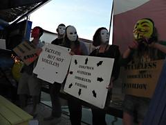 ASI@Danish-pavilion-Osloo3 (Anon Stateless Immigrants) Tags: art performance activism anonymous subversion freedomofspeach capitalsim danishpavilion osloo floatingpavilion statelessimmigrantspavilion 54venicebiannale