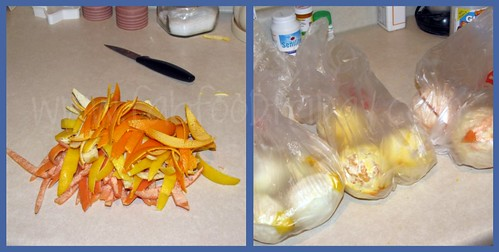 1st Step in Candied Citrus Peels
