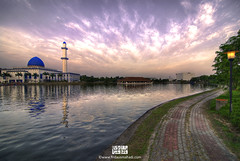 Alternation Of Day & Night II (Firdaus Mahadi) Tags: sunset lake reflection landscape lights hotel evening colorful mosque malaysia colourful residence hdr highdynamicrange masjid lampu tasik uniten petang maghrib warnawarni hotelresidence residencehotel manfrotto055xprob universititenaganasional tokina1116f28 firdausmahadi firdaus wwwfirdausmahadicom dlakerestaurant