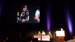 Mona Speaking Lifestreaming Panel at the 140Conf at the Kodak Theater