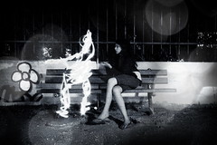 no ghost in the machine (helen sotiriadis) Tags: light bw white lightpainting black halloween monochrome night canon painting bokeh ghost science superstition spook canonefs1022mmf3545usm stevenpinker canoneos40d toomanytribbles