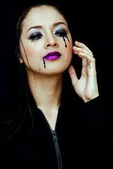 Boo! (joelCgarcia) Tags: portrait halloween tears crying avantgarde 85mmf18d purplelips pearlcedro ghottic