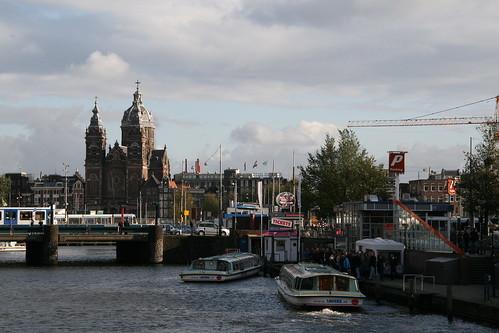 near amsterdam centraal station