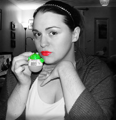 51/365 days: The Princess and The Frog BW Select (RhiannonsWave) Tags: me princess disney frog pout redlips weebles 365days christmascountdown theprincessandthefrog