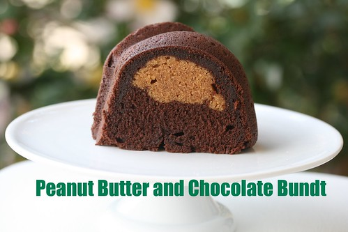 Individual Chocolate And Peanut Butter Bundt Cakes