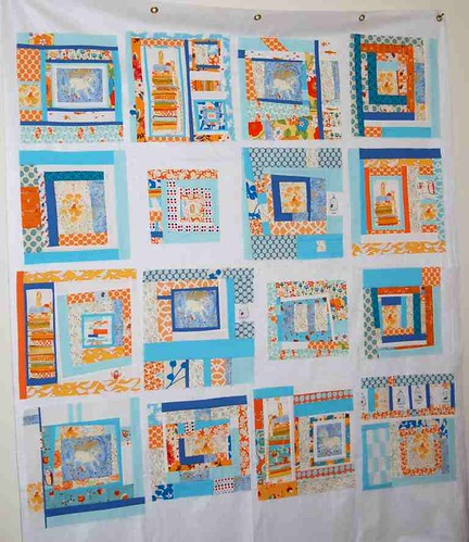 { Tangerine Princess in the Pea Quilt Blocks } Sew New To Me Virtual Quilting Bee * FINISHED!! *