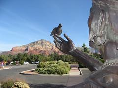Sedona Medical Center (twm1340) Tags: sedona arizona az scenic art redrock country statue indian nativeamerican bird mountain medical center hospital