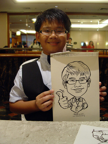 Caricature live sketching for wedding dinner 221109 - 2