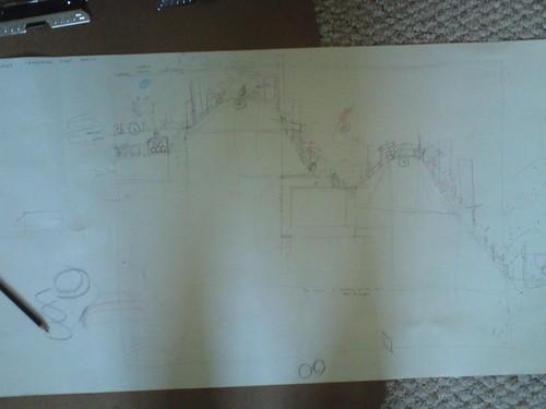 Team Cable Car Rush design sketch for LittleBigPlanet PSP
